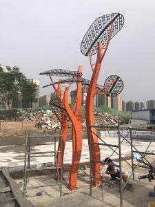 陕西景观灯施工图片